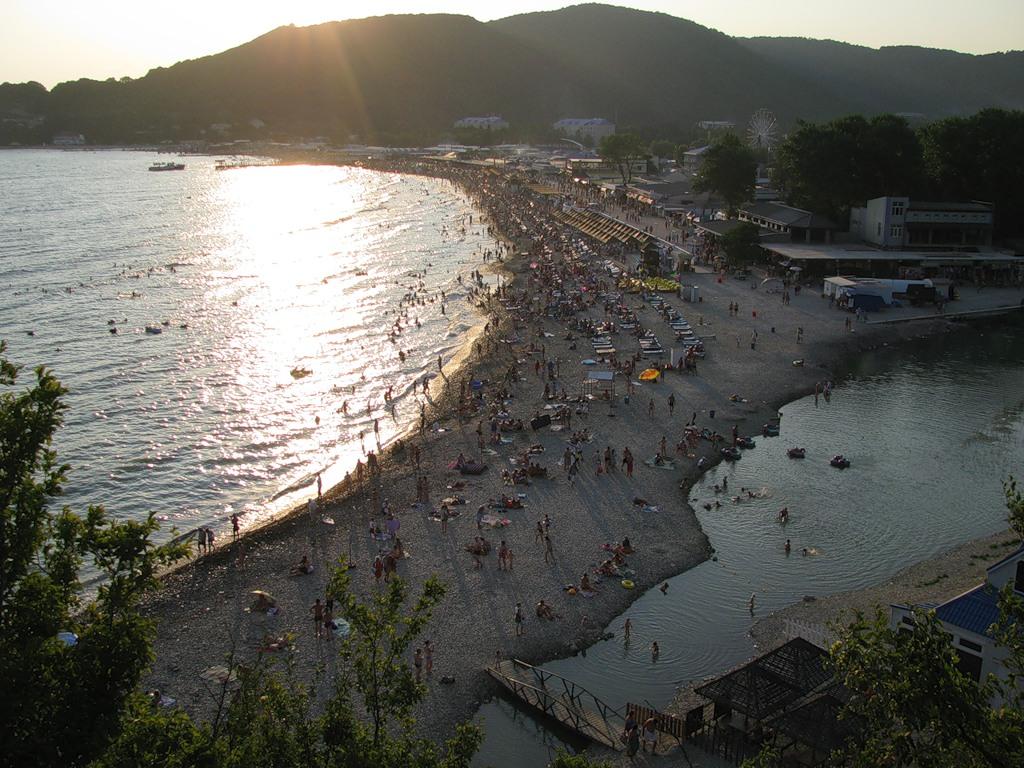 пляж за речкой