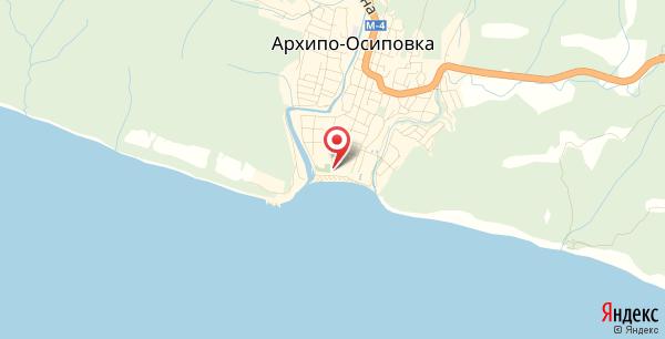 Дельфинарий в Архипо-Осиповке на карте
