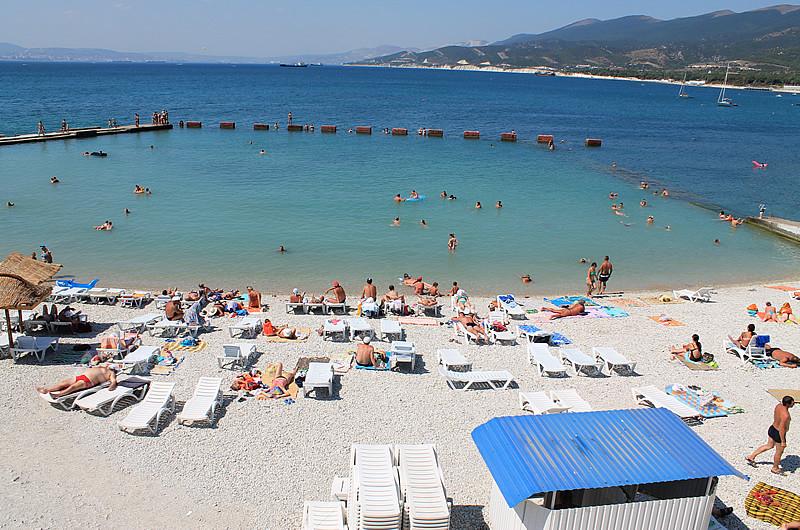 Пляж лагеря «Смена»