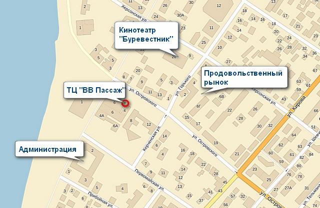 """Кинотеатр """"Буревестник"""" в Геленджике на карте"""