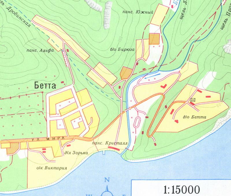Бетта на карте